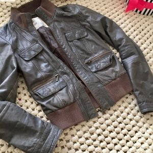 Zara Trafaluc Genuine Leather Jacket ❤️